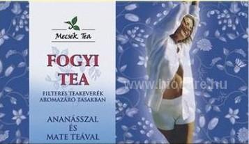 Mecsek Fogyi Tea ananásszal és maté teával Ömlesztett g