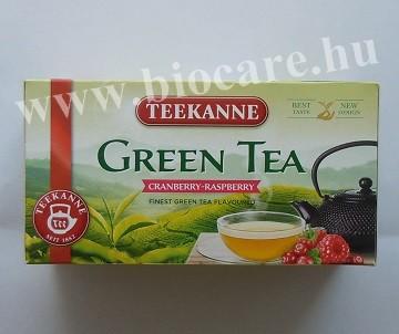 zöld tea tőzegáfonyával