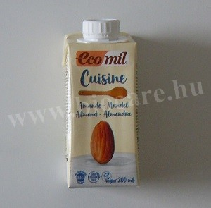 Ecomil bio mandula tejszín 200 ml
