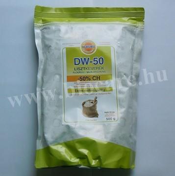 50%-kal csökkentett szénhidrát tartalmú liszt
