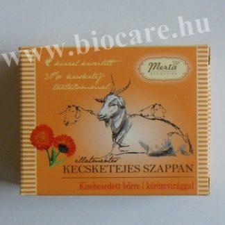 kecsketejes szappan körömvirággal
