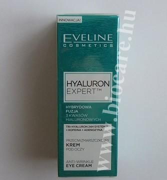 eveline hyaluron expert bőrfiatalító szemránckrém