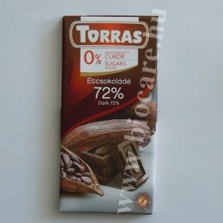 étcsokoládé 72% kakaótartalommal