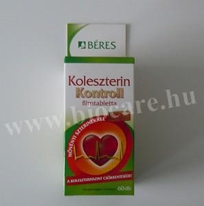 Béres koleszterin kontroll filmtabletta